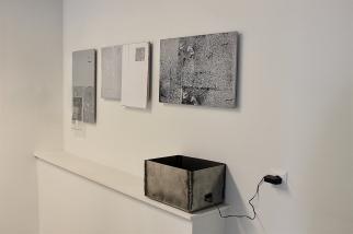 Detail_serigraphy on bulletin boards, ink-jet prints, welded steel, display_2016_Mia Seppälä