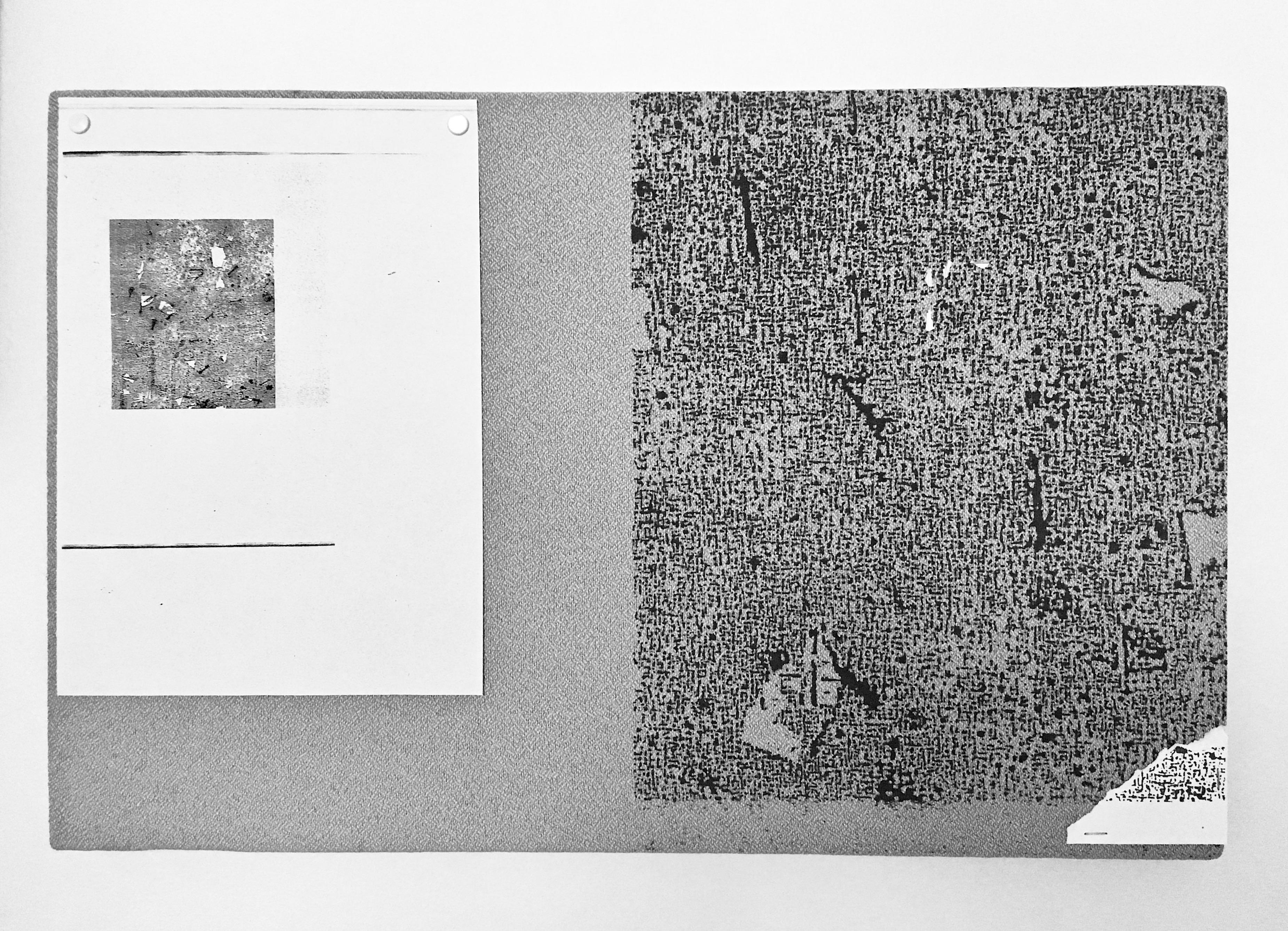 3._Bulletin board on bulletin board 2_60x40_serigraphy,mixed media_2017_Mia Seppälä